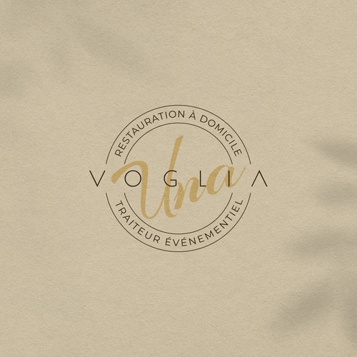 Sleek logo for a catering service
