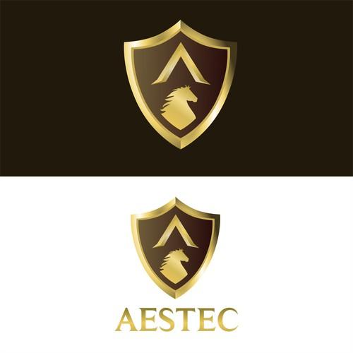Golden 3D shield Concept for AESTEC