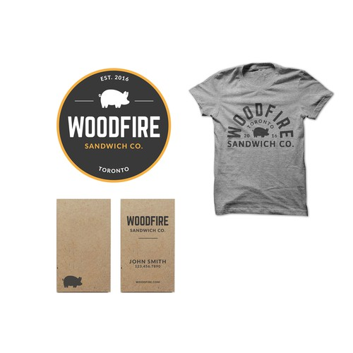 Woodfire Sandwich Shop Logo Design