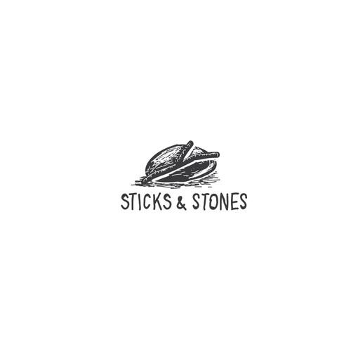 logo for sticks and stones