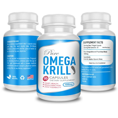 Label for OMEGA KRILL