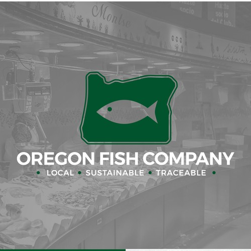 Winning Logo for the Oregon Fish Company
