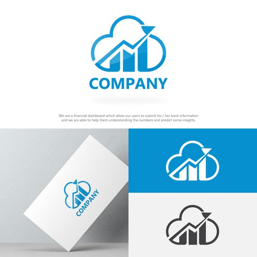 Modern logo design for a Cloud Accounting company.