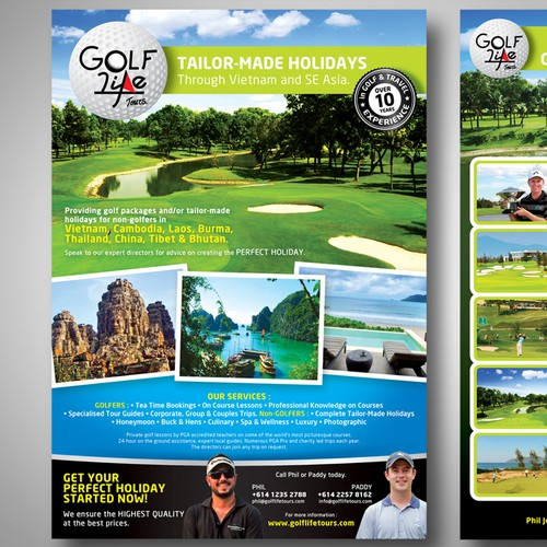 Golf Life Tours needs a new postcard or flyer