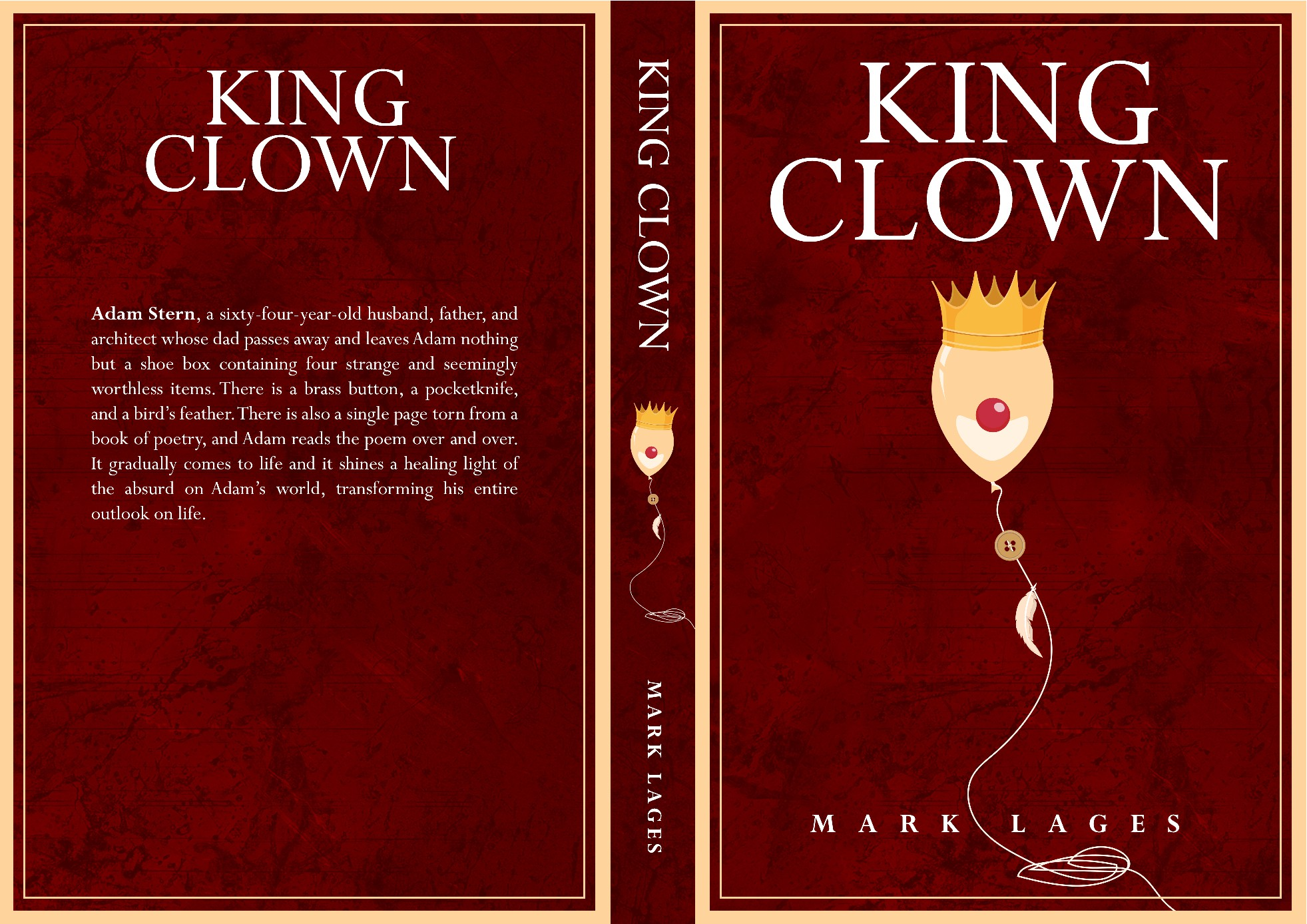 Cover for fiction novel about clowns