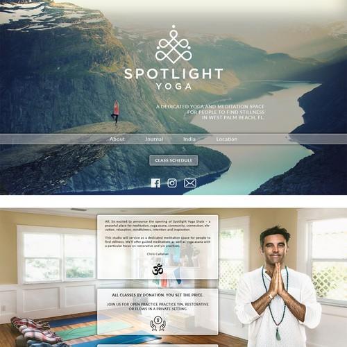 Yoga website concept
