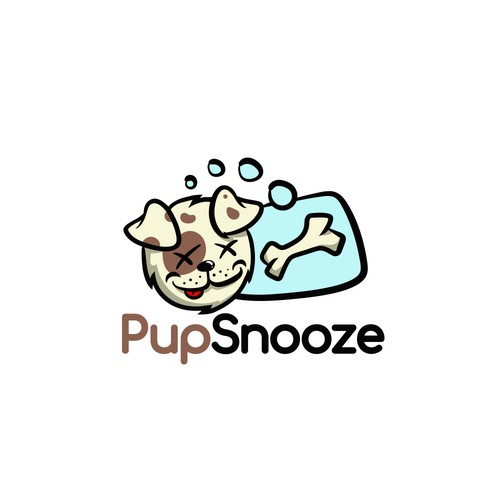 Cute puppy logo concept