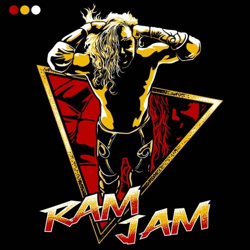 "RAM JAM - pop culture design of Randy ""The Ram"" from the film The Wrestler"