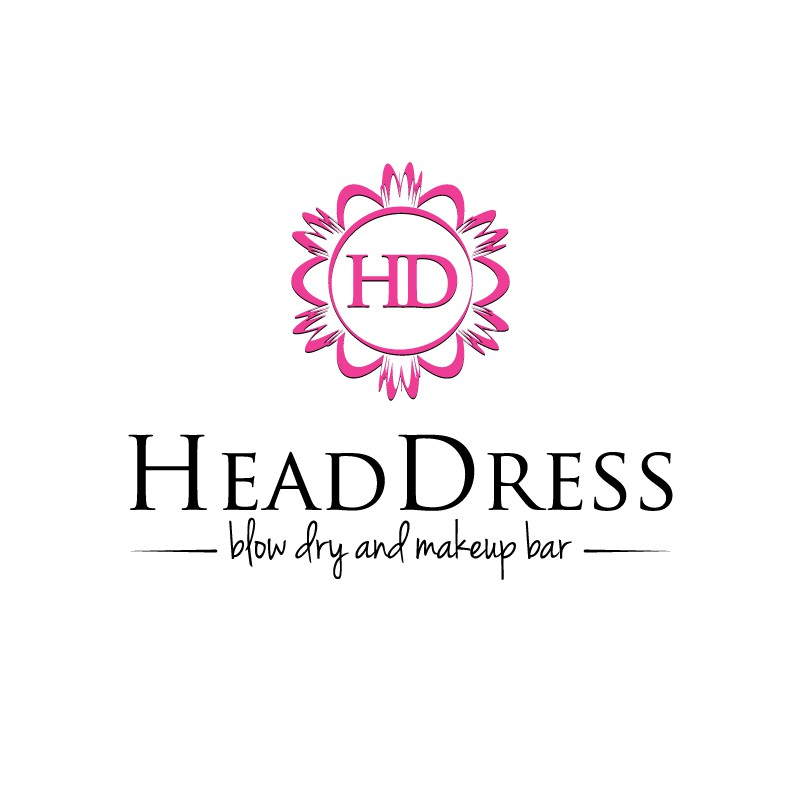 Create a logo for HeadDress - blow dry and makeup bar
