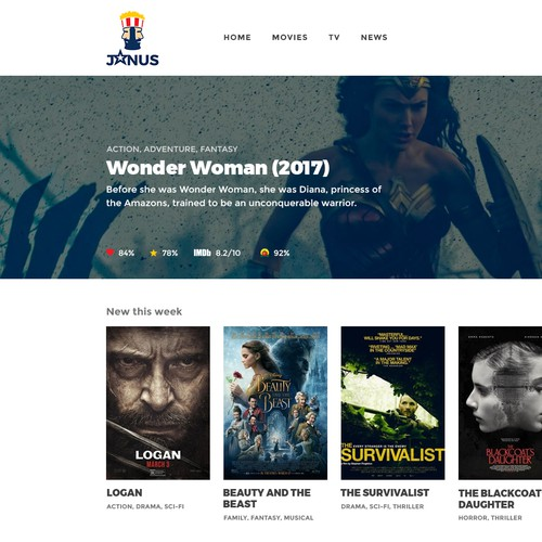 Movie & TV Website