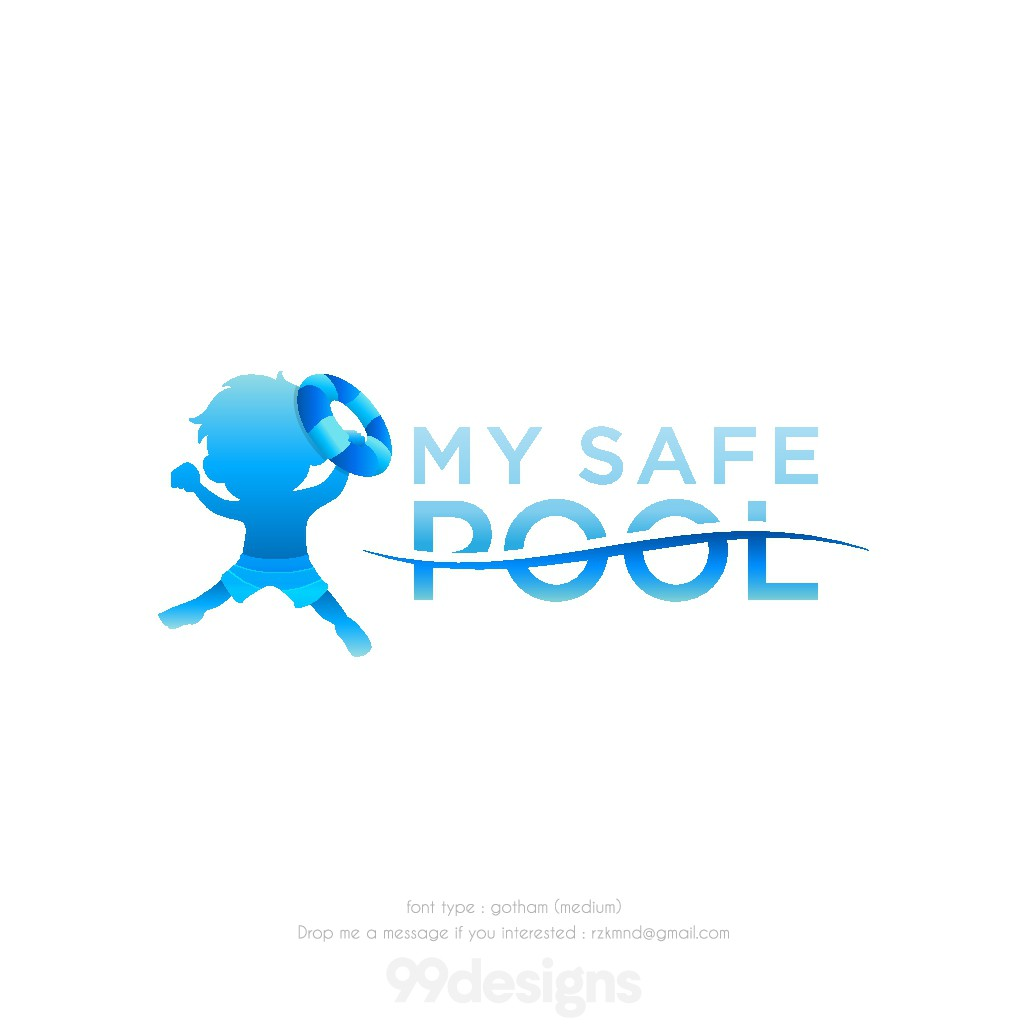 Sophisticated mascot logo for My Safe Pool
