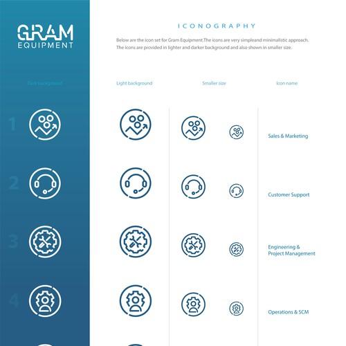 GRAM equipment icons for Web app