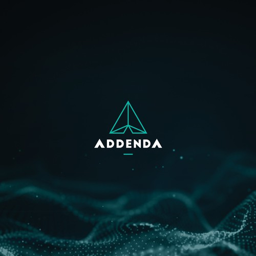 Futuristic logo for a blockchain business.