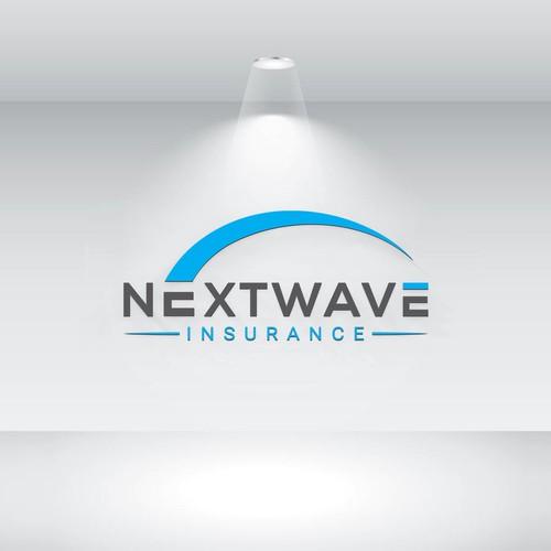 nextwave logo design