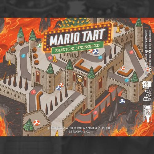 mario tart 8bit-phantom stronghold