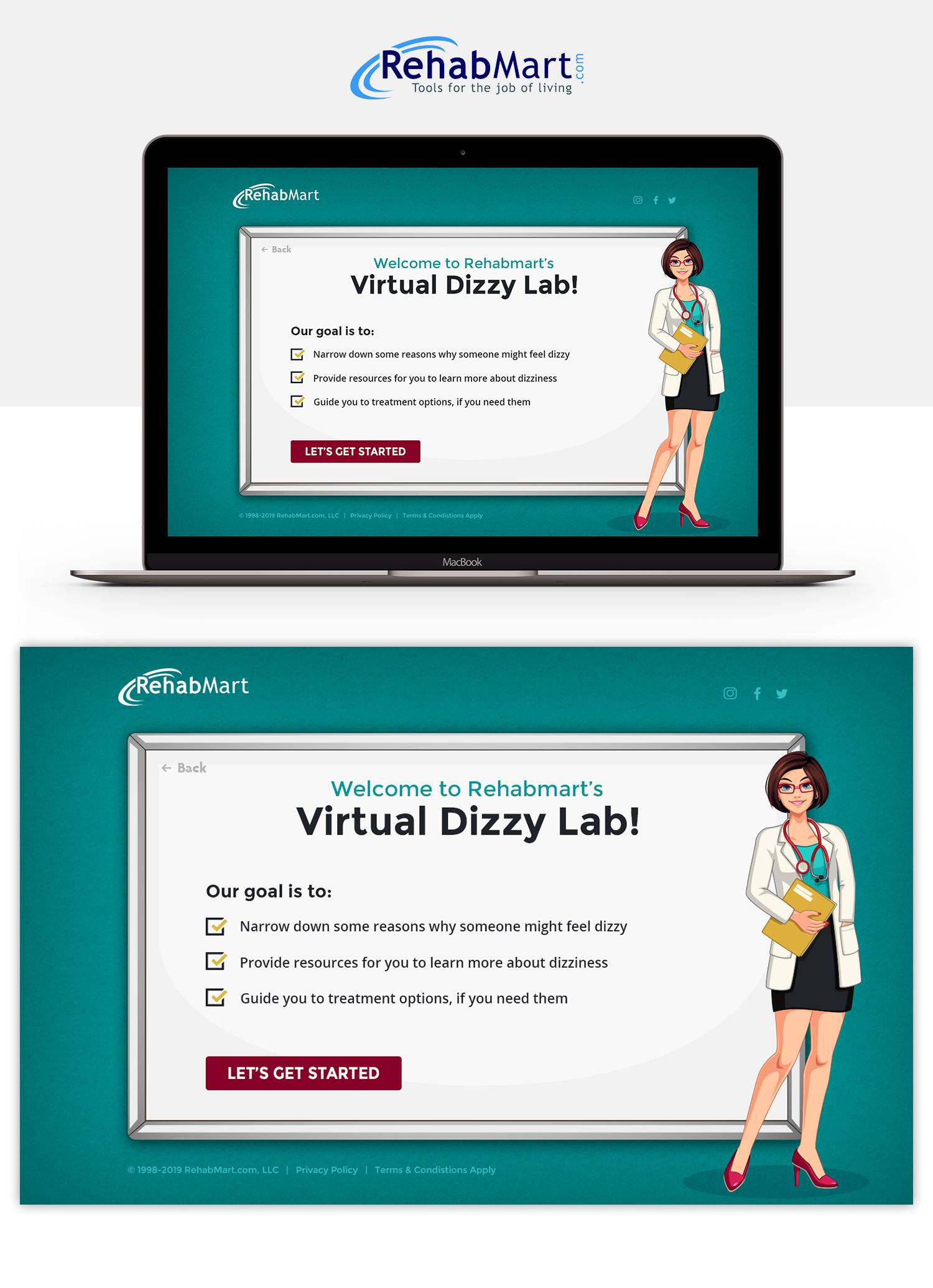 Dizzy Virtual Lab Graphic Design
