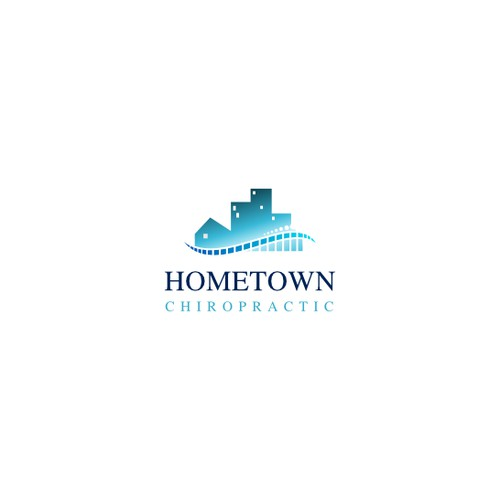 Create a unique and modern logo for Hometown Chiropractic