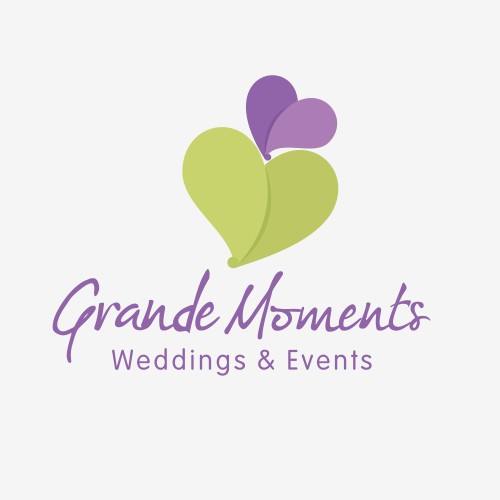 Create a romantic logo to represent my wedding styles to catch the brides eye