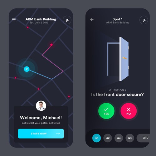Bank Security App Design