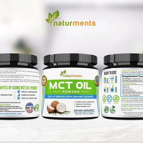 Clean Supplement Label Packaging Design