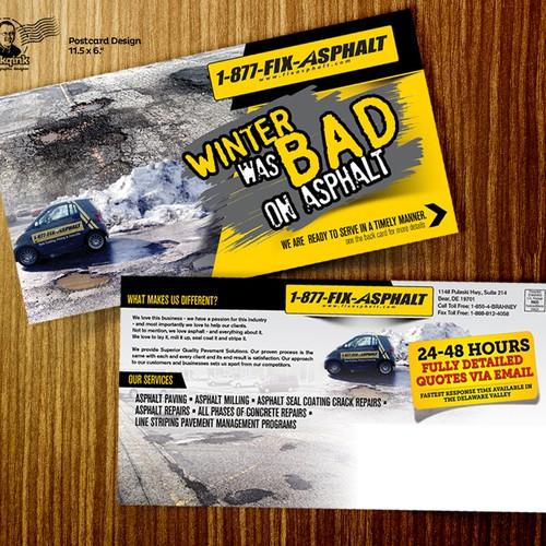 Post card for asphalt & concrete company