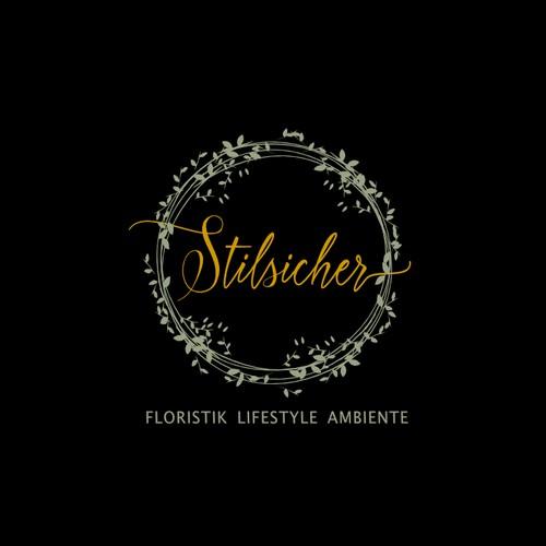 Elegant floral logo