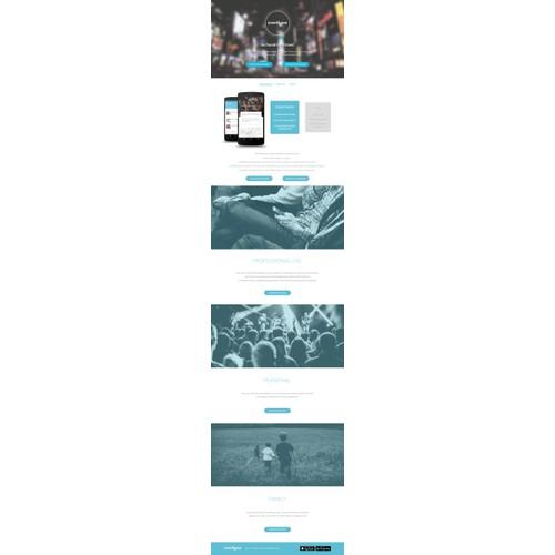 Website deign for Eventwave app