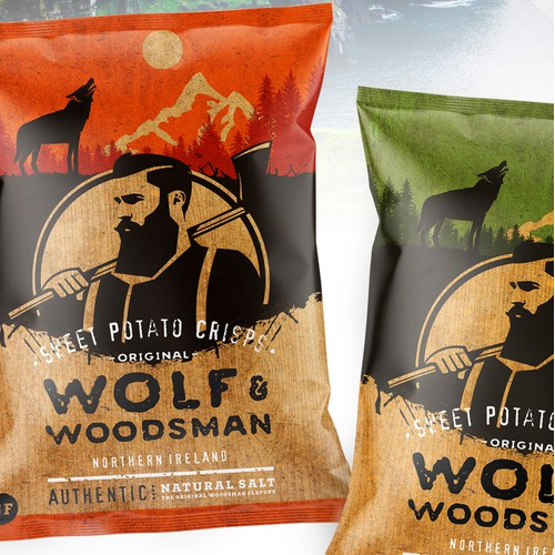 Wolf & Woodsman chips packing