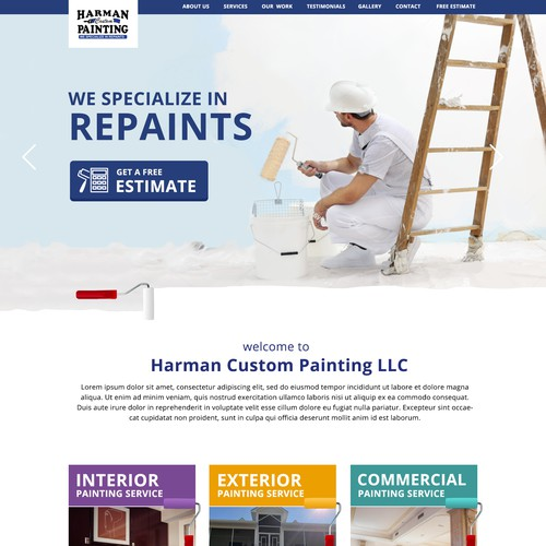 Established Painting Company First Website Design