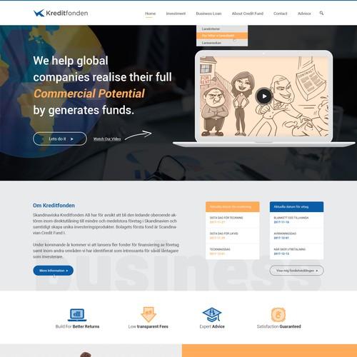 Website design for KreditFonden