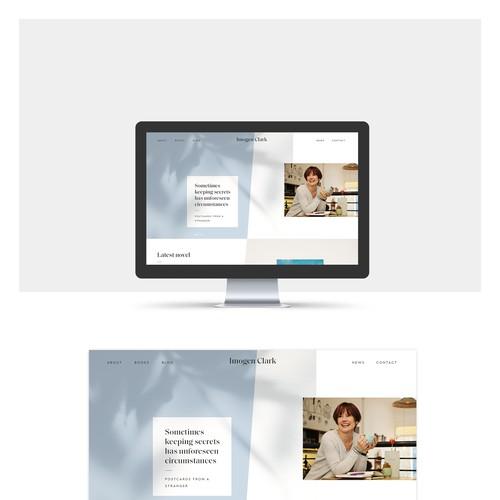 Website for author Imogen Clark