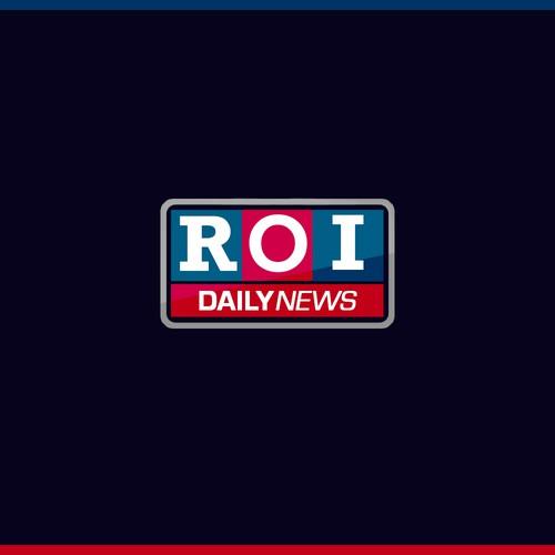 ROI daily news logo concept