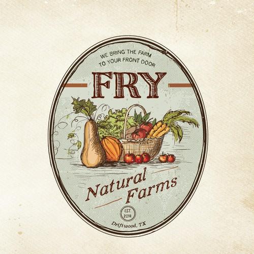 Create a Vintage Farm Logo