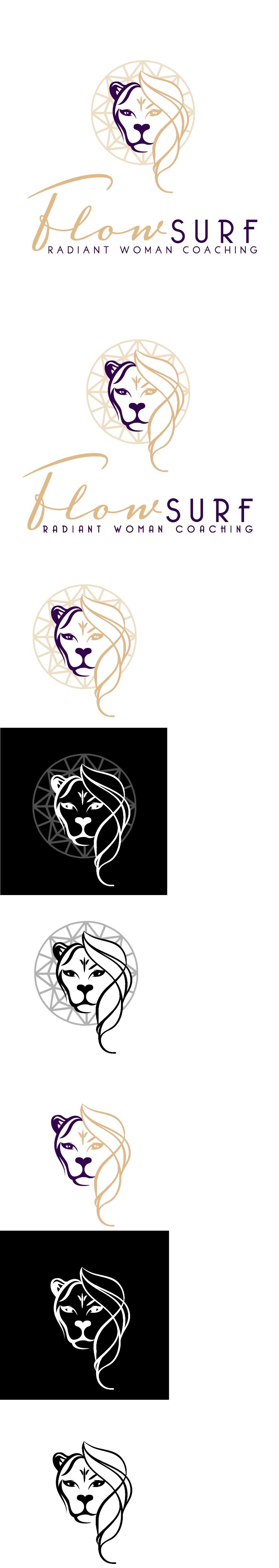 Create a stylish and impactful logo for FlowSurf`s Radiant Woman Coaching Program!