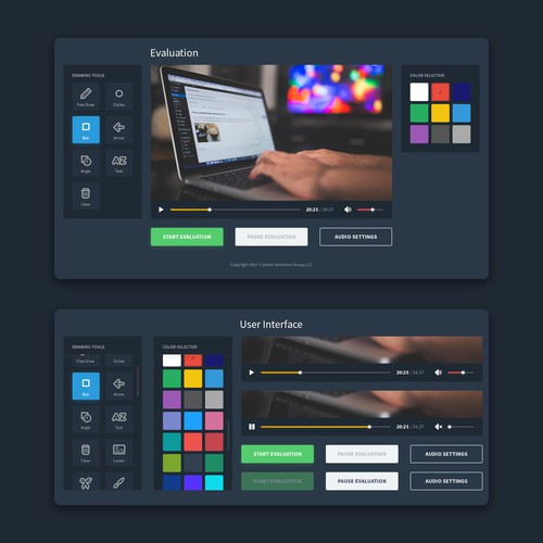 UI Condept for Online Video Editor