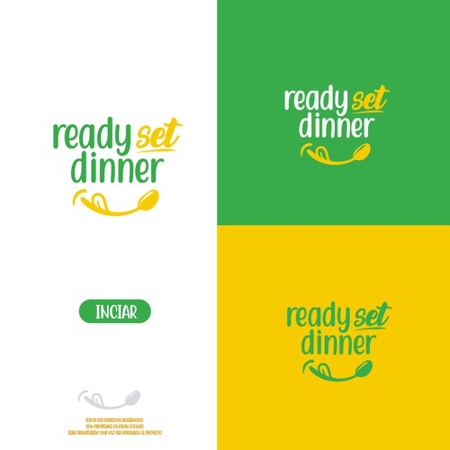 Logo concept for ready set dinner