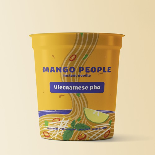 Fun and bold noodle packaging design