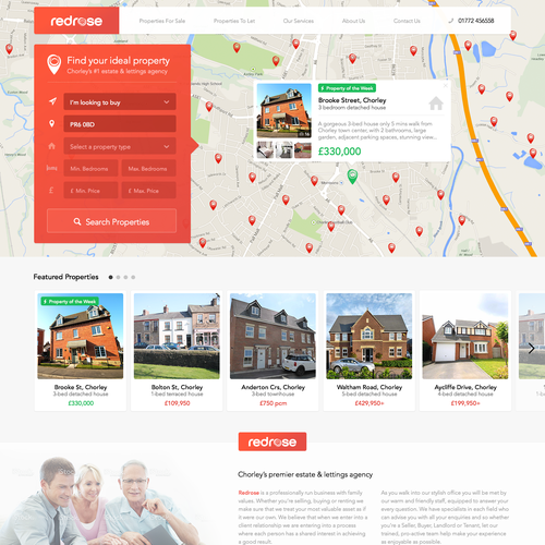 Design a stunning, responsive estate agent website