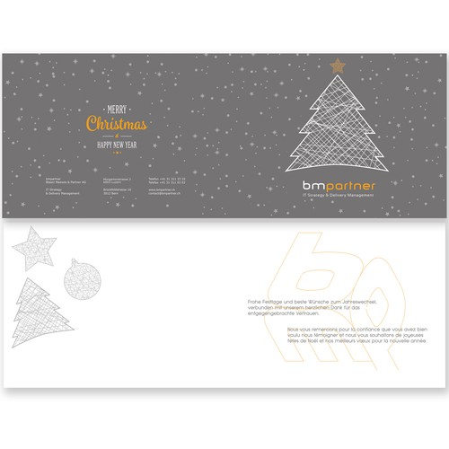 Business card for christmas
