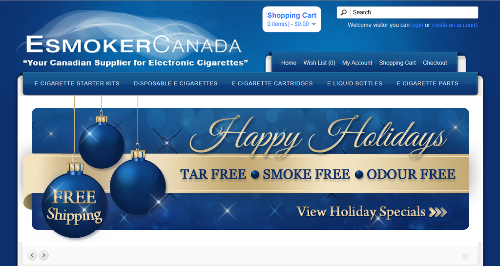 banner ad for EsmokerCanada