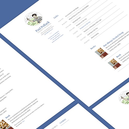 Website Design for a Researcher