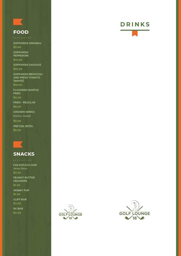 Edgy/Fun, bright, cool, menu for a sports bar