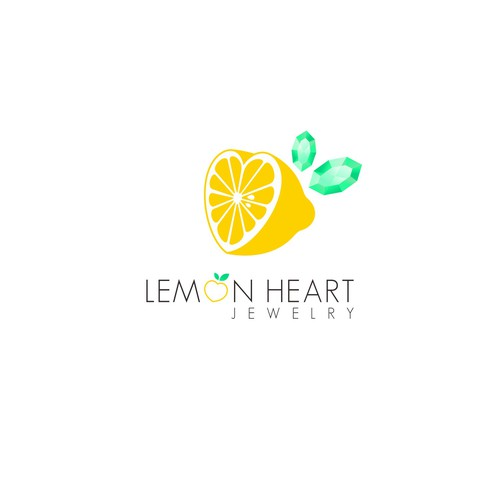 Lemon heart jewelry logo