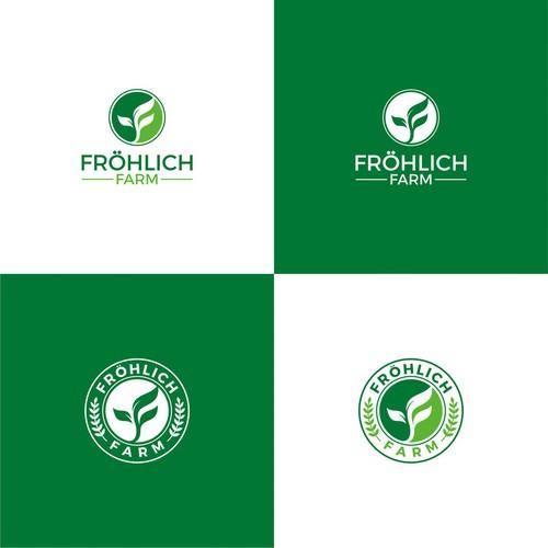 Frohlich Farm logo design