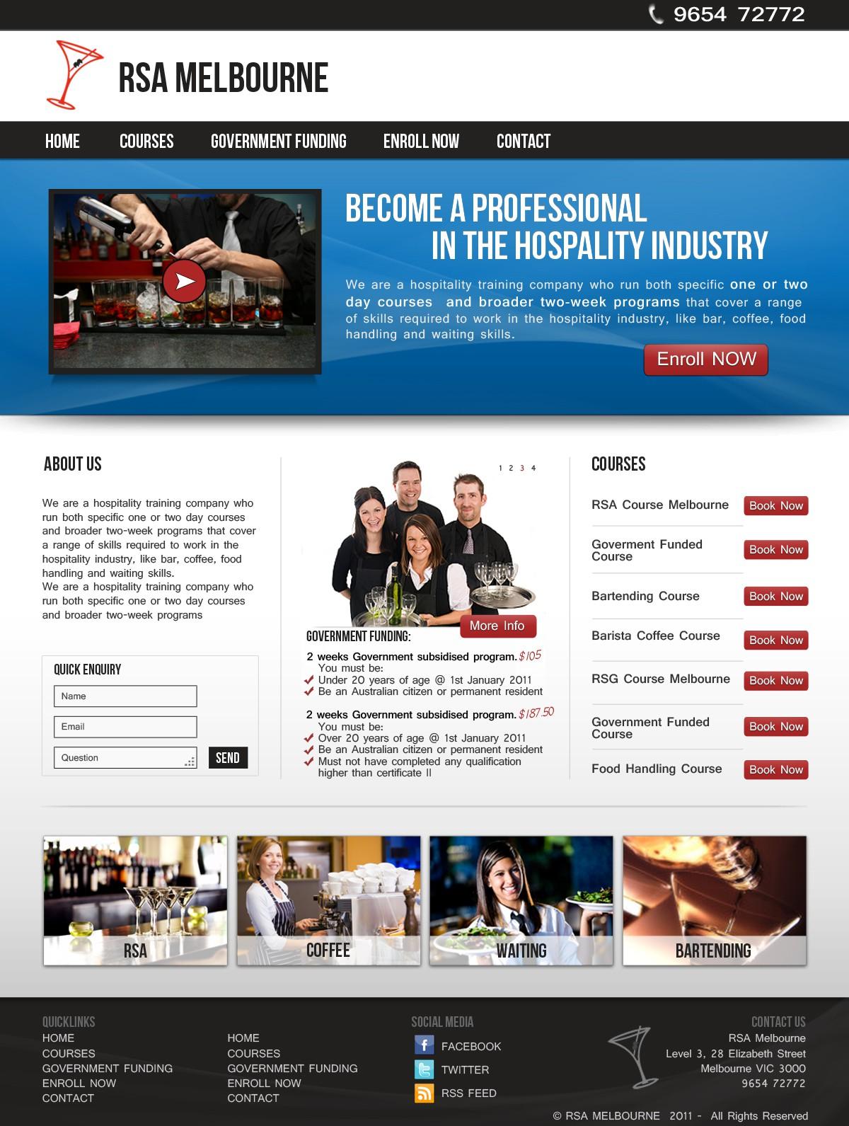website design for Victorian Bar School