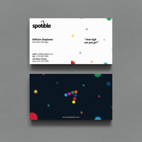 Simple Colorful Business Card Design