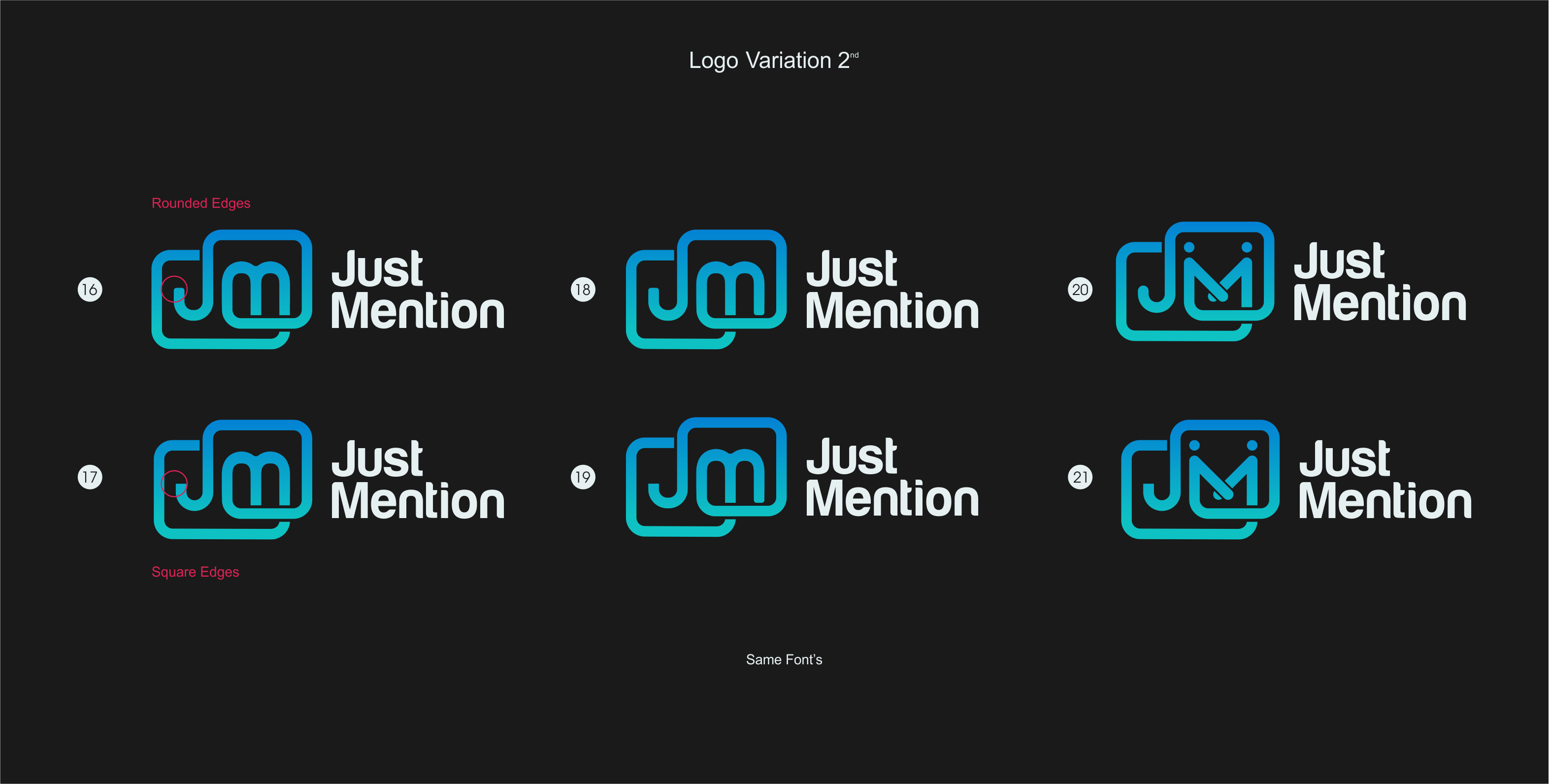 """Need iconic logo for new referral automation app """"Just Mention"""""""