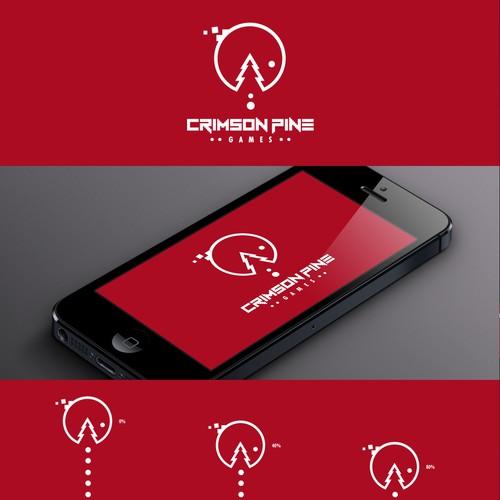 Create logo for game developer Crimson Pine