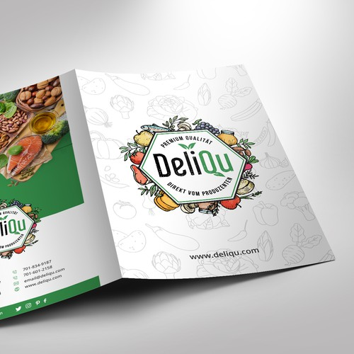 Simple and elegant brochure design for Deliqu