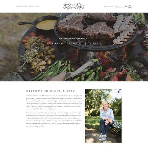 Beads & Basil Website